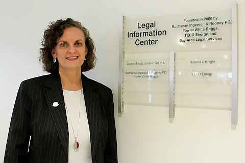 Susan Whitaker at the Legal Information Center